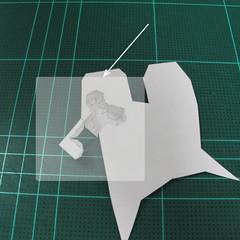 วิธีทำโมเดลกระดาษตุ้กตา คุกกี้ รัน คุกกี้รสซอมบี้ (LINE Cookie Run Zombie Cookie Papercraft Model) 009