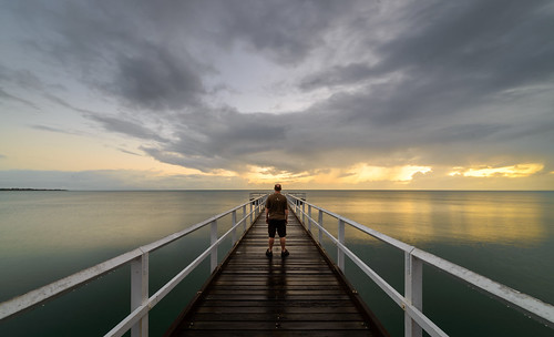 australia clouds dawn herveybay light pier queensland scarness sea selfie sky sunrise caldwell ankh