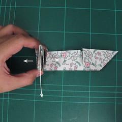 วิธีพับกระดาษรูปหัวใจคู่ (Origami Double Heart)  017