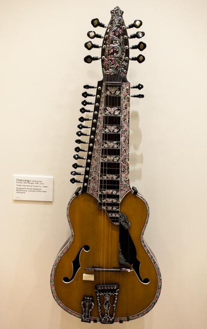 Musical instruments on display at the MIM