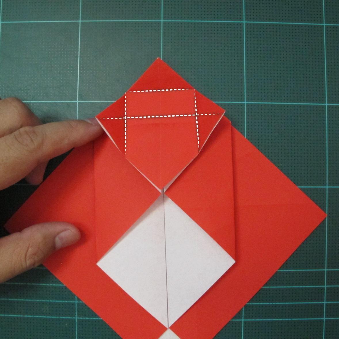 การพับกระดาษเป็นรูปสัตว์ประหลาดก็อตซิล่า (Origami Gozzila) 013