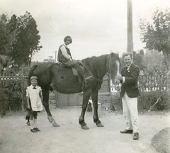 M. Llewelyn W. Bevan with Peggy Morris teacher Mt Barker High late 60s c1925