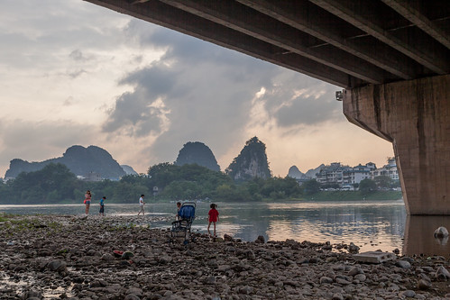 Under a Bridge in Guilin | by pamhule