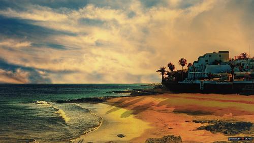 ocean sunset españa beach water island atardecer spain agua nikon lanzarote playa canaryislands isla oceano islascanarias jesuscm
