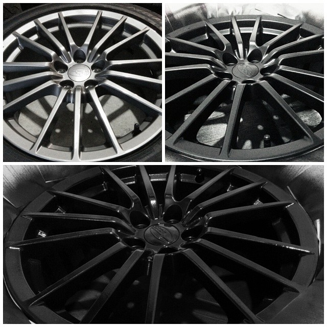 Plasti Dipped my wheels! From gunmetal grey > matte black