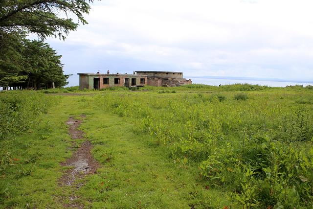 Old World War II buildings near Nigg
