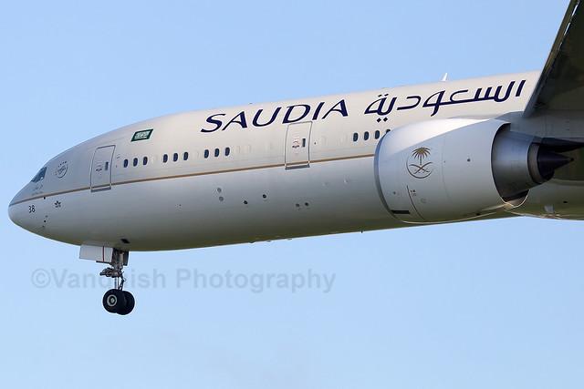 HZ-AK38 Saudi Arabian Airlines B777-300ER London Heathrow Airport