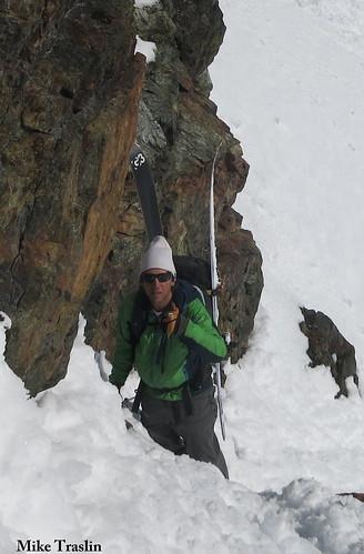 Sun, 2014-04-13 03:04 - Spearhead 24 Last pitch.. skier Andy Traslin
