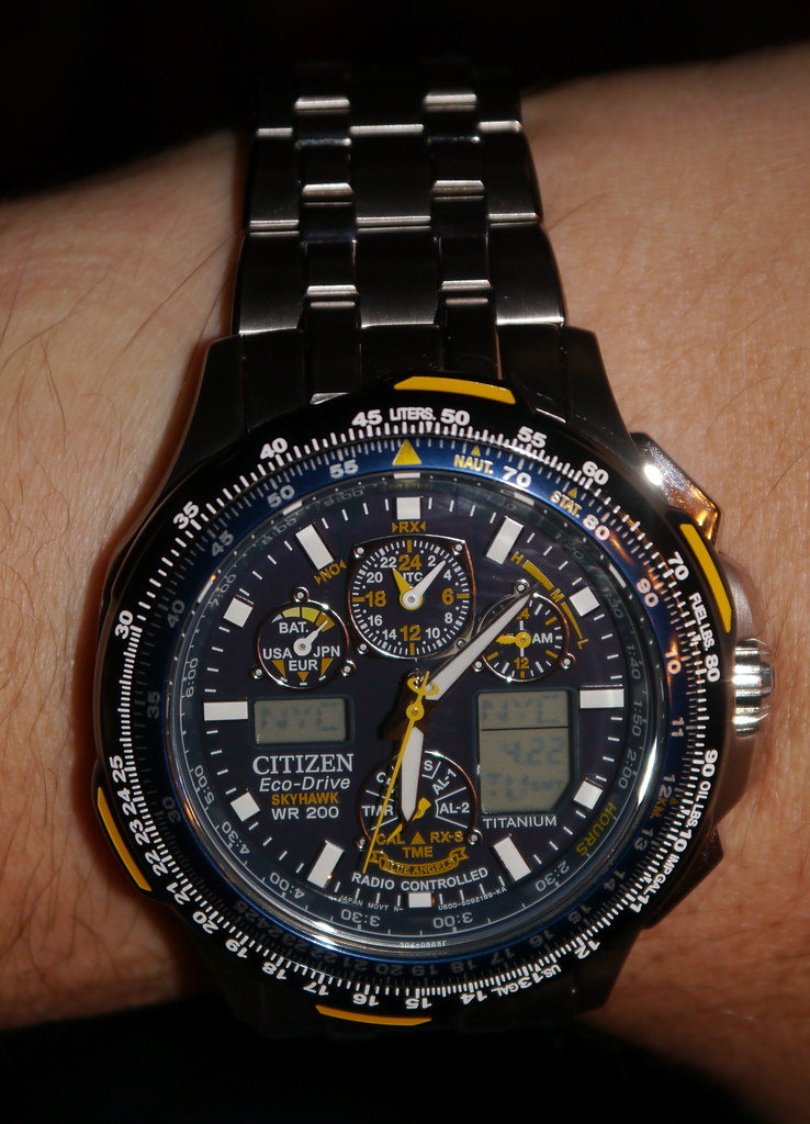 1b46307a461 ... A new Citizen Men s JY0050-55L Blue Angels Skyhawk A-T Titanium Eco-Drive  Watch