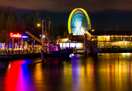 longexposure wheel night restaurant boat harbour jetty australia landing western fremantle cicerellos