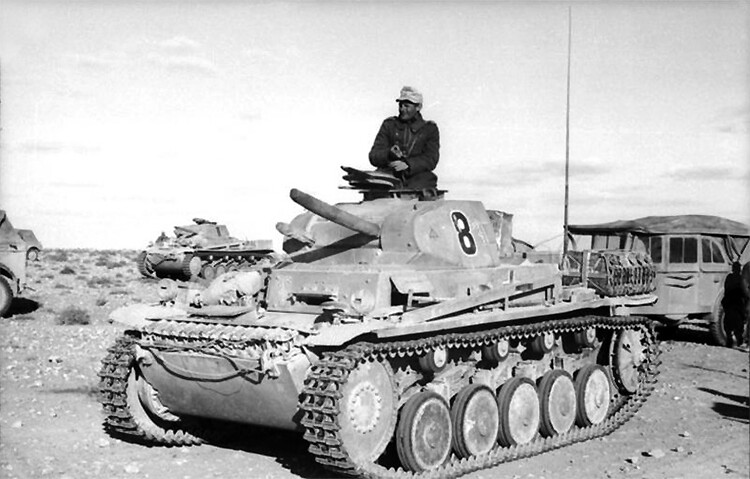 Panzer II of the 15th Panzer Division