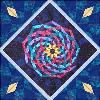 dancing ribbons medallion choice5 | by Scientific Quilter