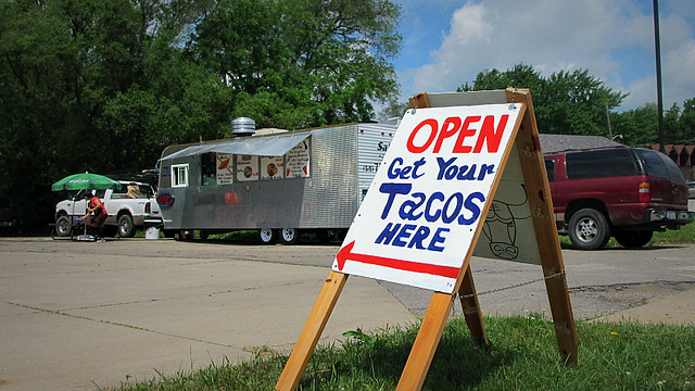 Get Your Tacos Here Antojitos Mexicanos Truck on MLK in Des Moines, Iowa