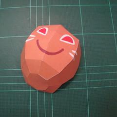 วิธีทำโมเดลกระดาษตุ้กตาคุกกี้รัน คุกกี้รสจิ้งจอกเก้าหาง (Cookie Run Nine Tails Cookie Papercraft Model) 007