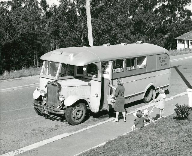 Dunedin Public Library Book Bus 1960s