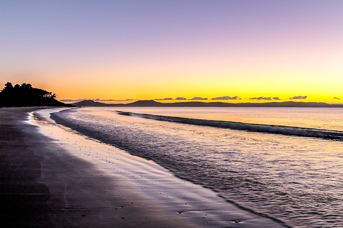 dawn hdr sunrise beach swansea tasmania australia au