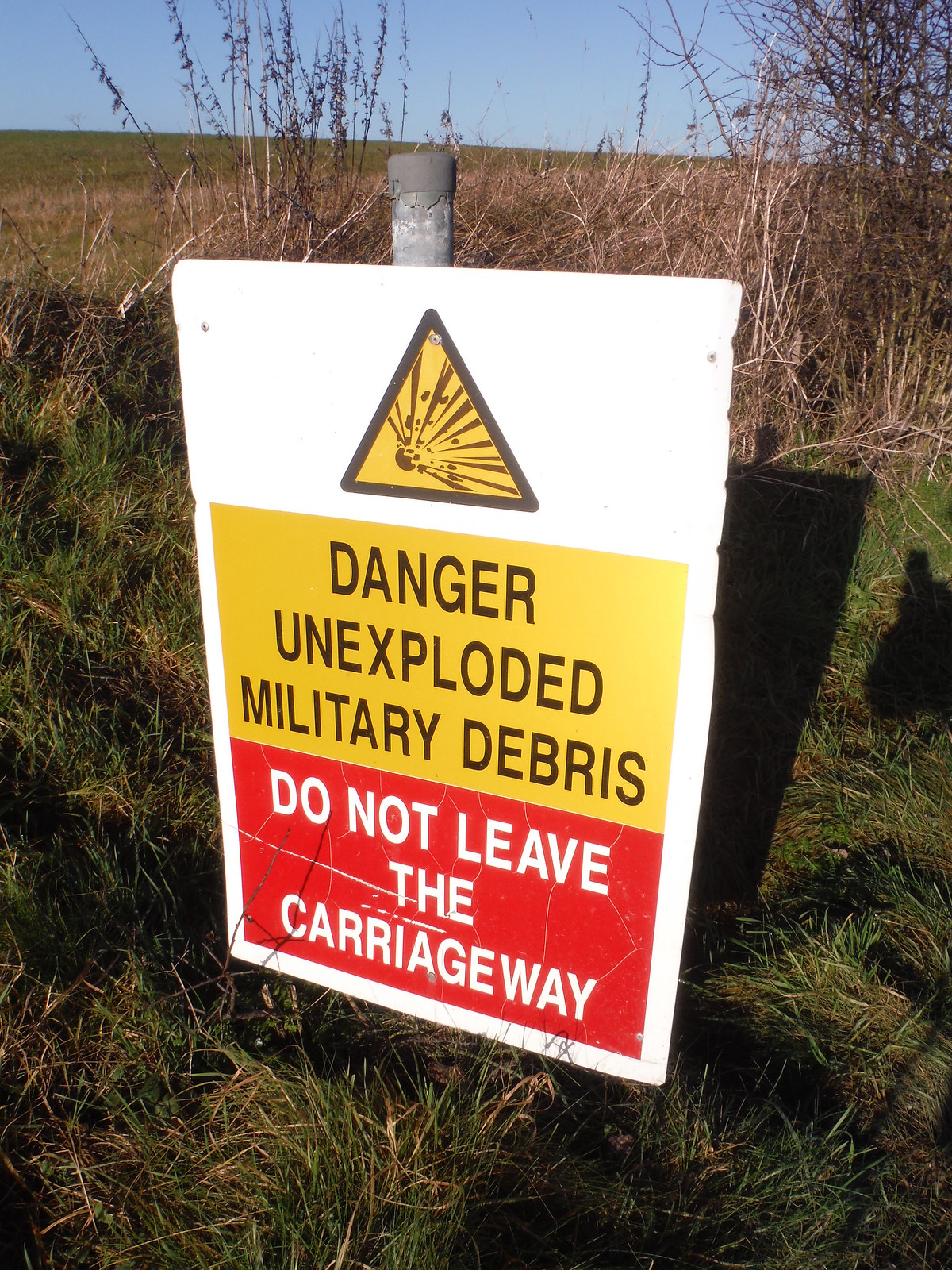 Imber Range, Warning Sign SWC Walk 286 Westbury to Warminster (via Imber Range)