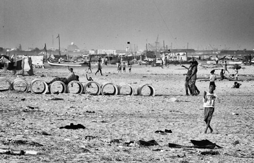 india tamilnadu south beach sea chennai spiaggia madras pentaxk20d angelopetrozza blackandwhite biancoenero landscape panorama