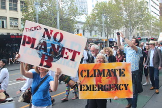 No Planet B | Climate emergency - Melbourne #MarchforScience on #Earthday | by John Englart (Takver)