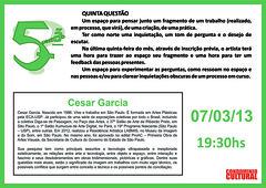 5.ª Questão Cesar Garcia - 07-03-2013