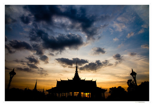 park sunset asia cambodge cambodia royal palace phnompenh asie