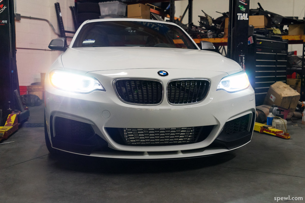 Evolution Racewerks FMIC for M235i | Bumper installed