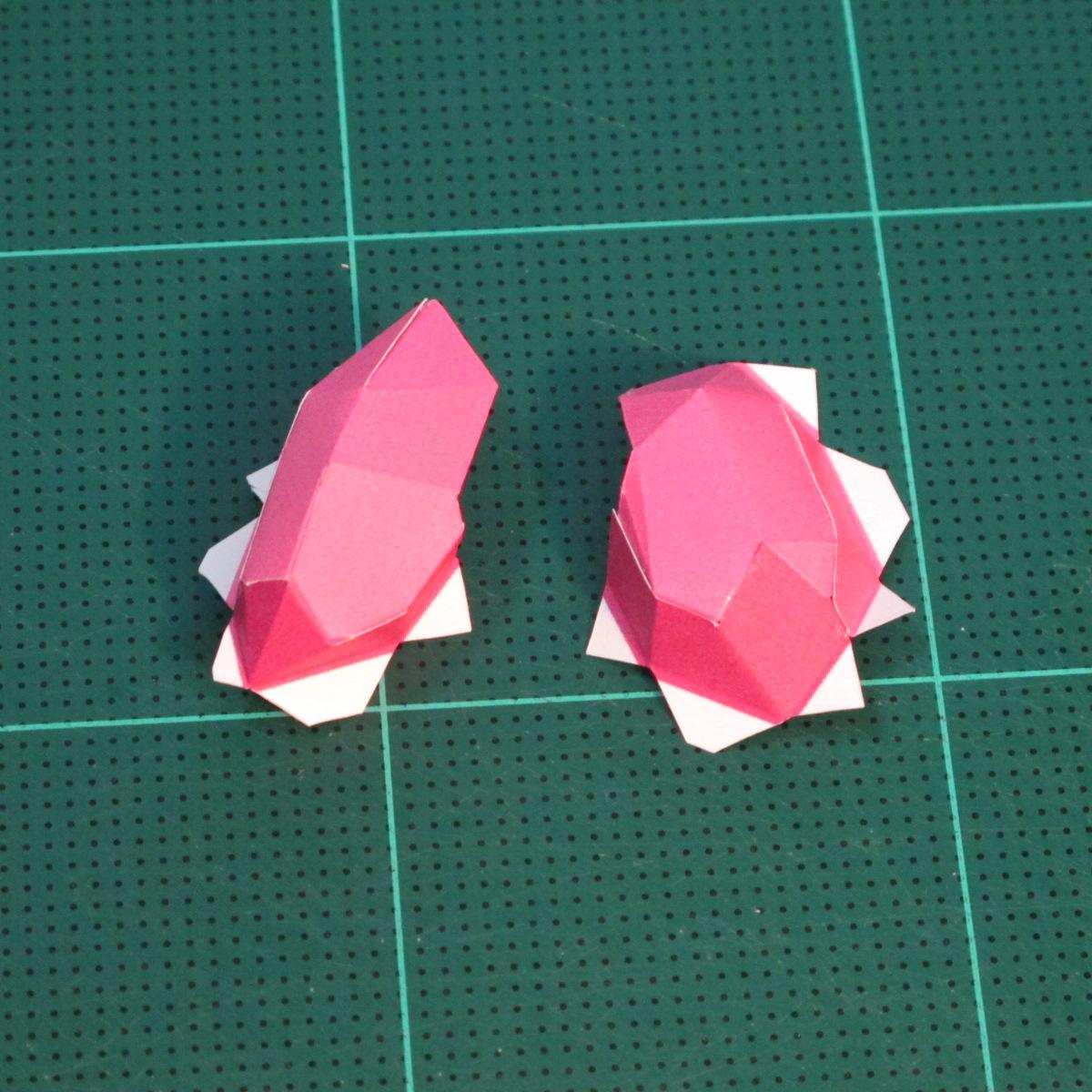 วิธีทำโมเดลกระดาษตุ้กตาคุกกี้รัน คุกกี้รสสตอเบอรี่ (LINE Cookie Run Strawberry Cookie Papercraft Model) 009