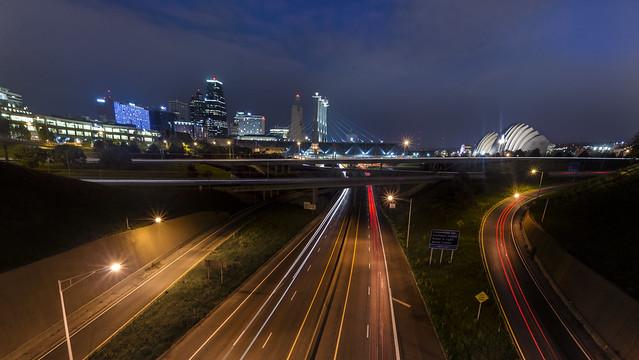 670and I-35 through Downtown Kansas City