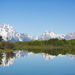Oxbow bend and the Grand Tetons