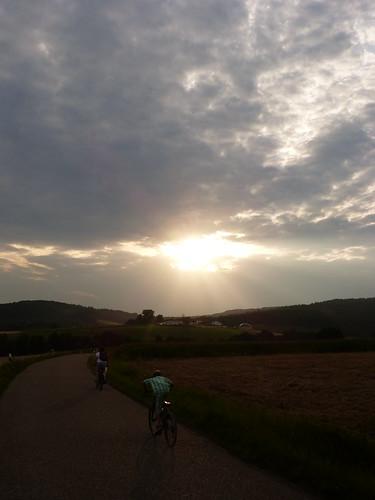 sunset day cloudy wiesent ettersdorf