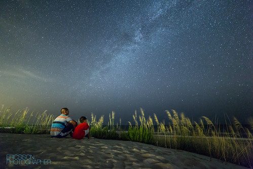 boy canon landscape dad child father northcarolina son astrophotography 28 outerbanks bower obx milkyway widefield 14mm samyang rokinon