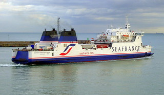 Seafrance ferry leaving Dover.