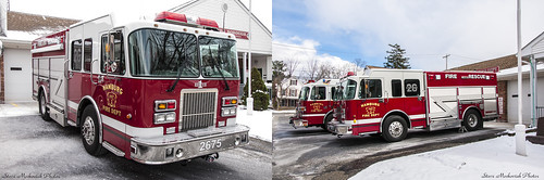 smack53 firetrucks fireengines fireapparatus hamburg newjersey firedepartment winter wintertime nikon d300 nikond300