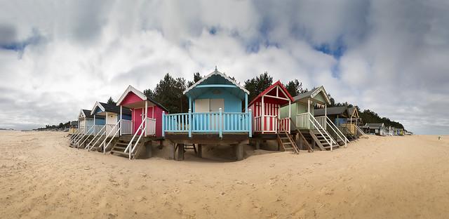 Beach Huts Panorama