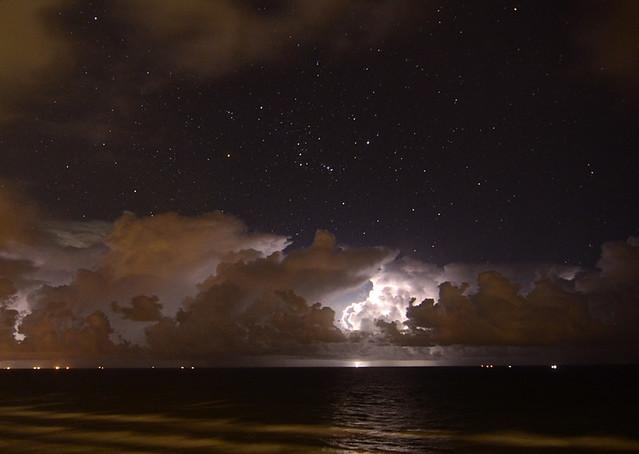 Gulf of Mexico Night Storm - Mustang Island, Texas