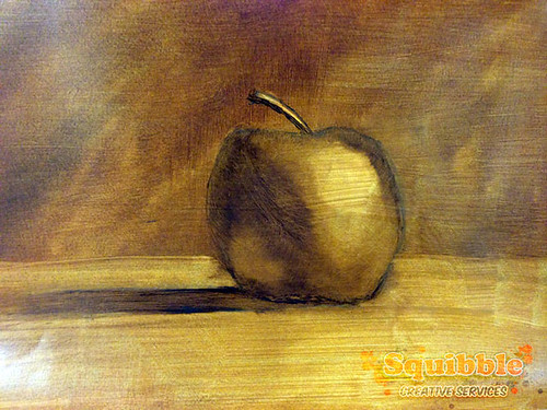 Test Still Life Oil Painting by Squibble - Apple | by squibbleworld