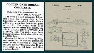 27th April 1937 - Golden Gate Bridge | by Bradford Timeline
