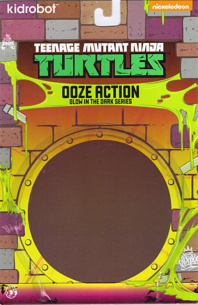 "Kidrobot :: ""TEENAGE MUTANT NINJA TURTLES"" - 'OOZE ACTION' GLOW IN THE DARK SHREDDER // ..card backer A  (( 2014 )) by tOkKa"