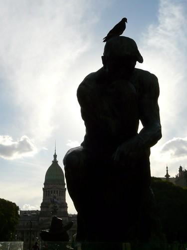 Le penseur devant le Congrès   by benontherun.com