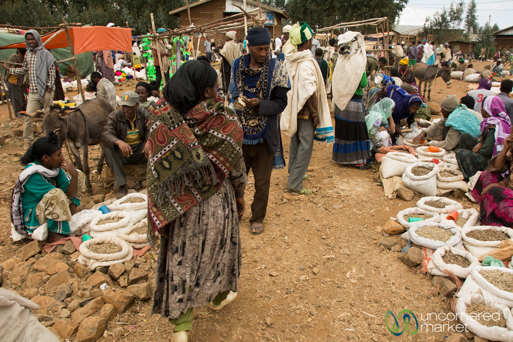 Green Coffee Beans for Sale at Market - Lalibela, Ethiopia ...