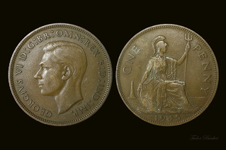 One Penny - British 1945 | Pre-decimal coinage - 240 to the … | Flickr