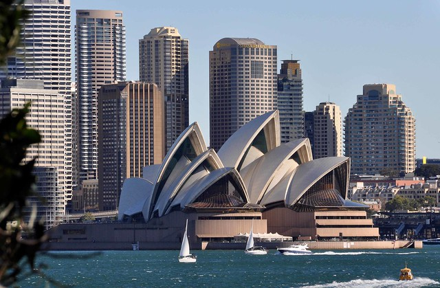 The Opera House and the City from Cremorne Point