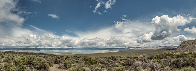 Clouds on Mono Lake
