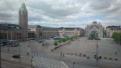 Railway station square from Cafe Cubus, Ateneum