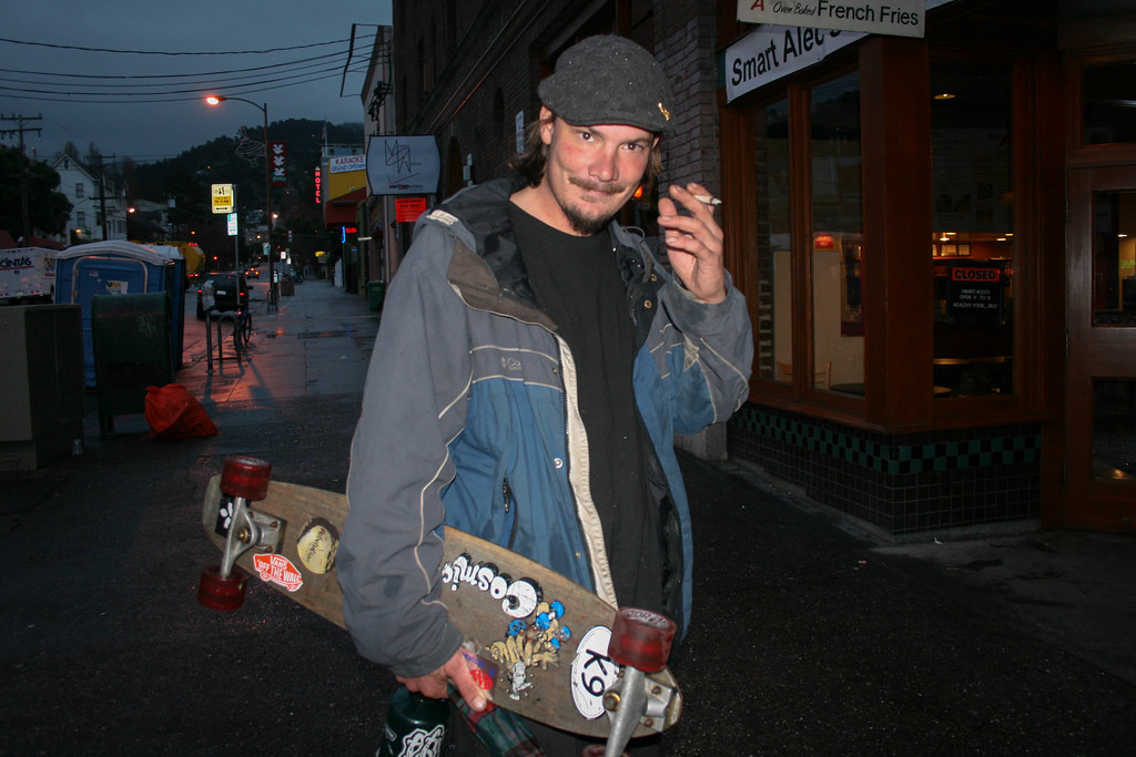 """A man named """"Sonny"""" in Berkeley on an early December 2009 morning."""