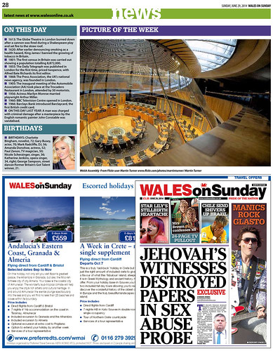 Wales on Sunday - 29th June 2014