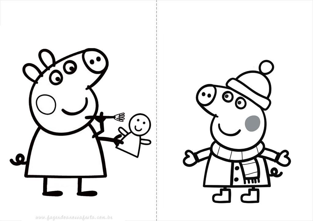Desenhos Do Peppa Pig Para Colorir Pintar Imprimir Desenh Flickr