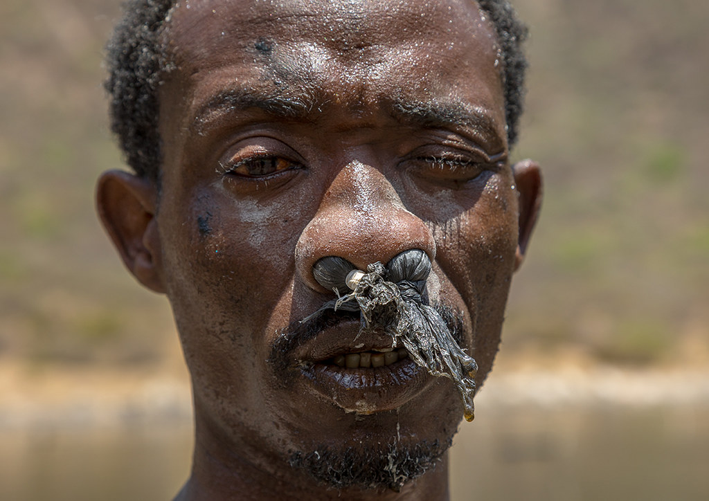 Borana Tribe Man With Protection In His Nose Ready To Dive Flickr