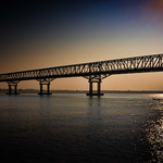 Sundown at Pakokku Bridge on the Ayeyarwady River