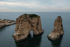 Голубиные скалы. Бейрут, Ливан